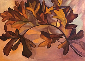 White Oak Leaves by Betti Pettinati Longinotti